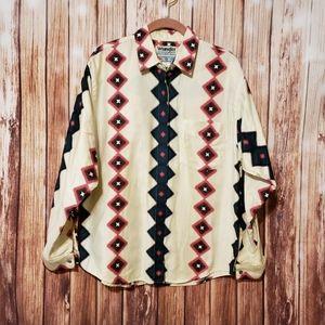 Vtg Wrangler western aztec shirt